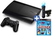 Sony PlayStation 3 Console 12GB Super Slim + 1 Wireless Dualshock 3 Controller + Sony PlayStation Move Starterpack + Sports Champions 2 - Zwart PS3 Bundel