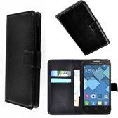 Alcatel Pop C3 Wallet Bookcase hoesje Zwart