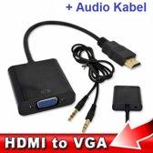 HDMI to VGA Adapter met Audio Kabel Converter Omvormer voor PC / Laptop