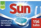 Sun All-in-1 Vaatwastabletten Normaal - 156 stuks - 6 x 26 tabletten - Hygienisch schoon