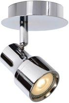 Lucide SIRENE-LED - Plafondspot Badkamer - Ø 10 cm - LED Dimb. - GU10 - 1x5W 3000K - IP44 - Chroom