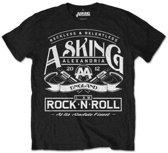 Asking Alexandria - Rock N' Roll heren unisex T-shirt zwart - S