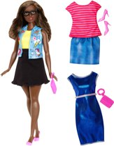 Barbie Fashionistas Emoji Fun - Barbiepop met 3 outfits
