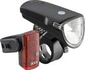 AXA Greenline - Verlichtingsset - Voor+Achter - 35 LUX/1 LED - USB-Oplaadbaar - Zwart
