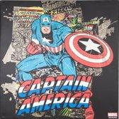 Marvel Comics - Canvas Schilderij - Captain America - 70x70cm