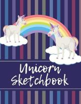 Unicorn Sketchbook: Kids Drawing & Doodling Notebook, Writing Diary and Journal