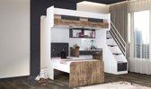 Compact kinderkamer voor kleine kamer | Hoogslaper - bed -  bureau