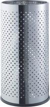 Helit paraplubak  / wasmand - met geperforeerde decoratie - roestvrij staal - chroom