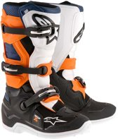 Alpinestars Kinder Crosslaarzen Tech 7S Black/Orange/White/Blue-42 (EU)
