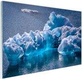 Gletsjerijs foto Glas 90x60 cm - Foto print op Glas (Plexiglas wanddecoratie)