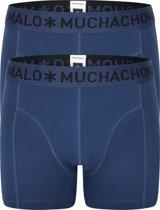 Muchachomalo boxershorts - 2-pack - blauw -  Maat M