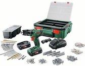 Bosch PSB 1800 LI-2 Accuboormachine  – 18V accu (2 stuks) - incl. 241 accessoires