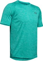 Under Armour Tech 2.0 SS Tee Heren Sportshirt - Teal Rush - Maat XL