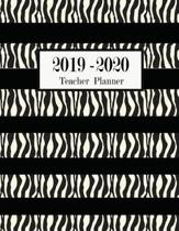 Teacher Planner 2019-2020: Teacher planner 2019-2020 black and white Lesson Planner Weekly and Monthly Calendar Schedule Academic Organizer For T