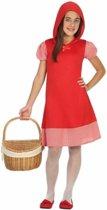 Roodkapje verkleedjurkje voor meisjes 116 (5-6 jaar)