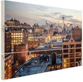 FotoCadeau.nl - Lower Manhattan Hout 80x60 cm - Foto print op Hout (Wanddecoratie)