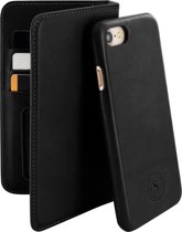 Serenity 2 in 1 Leather Wallet Case Apple iPhone 7/8 Timeless Black