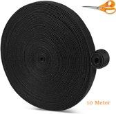 Live Deals Kabelbinders Rol 1CM x 10 Meter | Kabelorganizer Klittenband | Kabel Management | Snoerorganizer | Kabels Opruimen | Kabelclip | Kabels Bundelen | Kabel Collector | Oplaadkabels | Zwart