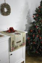 Tafelloper - luxe gobelin - Christmas Flowers - Kerst - Loper 140 x 45 cm