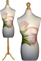 Tulpen paspop met licht bruine sparkling driepoot 44/46