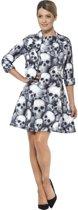 Mrs. Skeleton kostuum Jurkje en Jasje voor vrouwen - Halloween | maat M ( 40 - 42 )