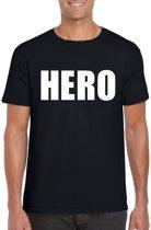 Hero tekst t-shirt zwart heren XL