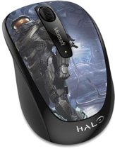 Microsoft Wireless Mobile Mouse 3500 Halo Limited Edition: The Master Chief RF Draadloos BlueTrack Multi kleuren Ambidextrous
