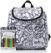 Babymel klein rugzakje Colour and Wash Dino 27 cm Wit