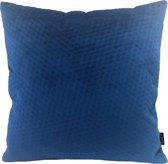 Blue Button Velvet Kussenhoes | Fluweel / Velours | Blauw | 45 x 45 cm