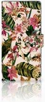Samsung Galaxy Note 8 Uniek Boekhoesje Flowers