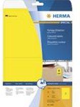 HERMA Etiketten A4 geel 199,6x143,5 mm Papier mat 40 St.