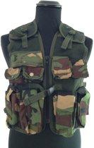 Kinder tactical vest leger camouflage