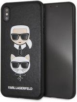 Karl Lagerfeld Hard Case do iPhone XS Max czarny/Karl & Choupette