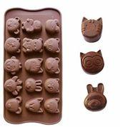 Kitchen Princess - Siliconen Chocoladevorm Dieren Divers - Fondant Bonbonvorm