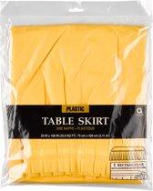 Table Skirt Plastic Sunshine Yellow 426 x 73 cm