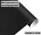 Zwarte Carbon Auto Wrap Folie / Car Wrapping Folie 130CMX15CM