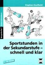 Sportstunden in der Sekundarstufe - schnell und klar