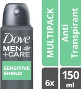 Dove Men+Care Sensitive Shield - 6 x 150 ml - Deodorant Spray – Voordeelverpakking