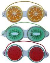 Premium Fruitige Set Oogmaskers met Verkoelende Gel - 3 Stuks   Verkoelend voor de Vermoeide Ogen en Verwijdert Wallen   Anti Rimpel en Wallen Verwijderaar   Oogmasker met Koelende Gel   Eye Gel Mask