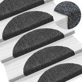 Trapmat trappenmat set trapmatten trapbekleding mat voor trap donker grijs set 15 54x16x4cm