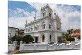 De Meeran moskee bij Fort Galle in het Aziatische Sri Lanka Aluminium 30x20 cm - klein - Foto print op Aluminium (metaal wanddecoratie)