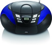 Lenco SCD-37 - Draagbare Radio/CD-speler - Blauw/Zwart