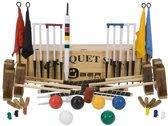 Meester Croquet set, 6 persoons, ultieme set, 16 mm dikke poorten, 16 oz kunststof ballen, absoluut top.-met Croquet Kist