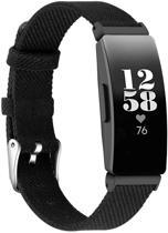 KELERINO. Denim bandje voor Fitbit Inspire (HR) - Zwart