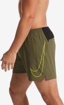 Nike Swim 5 Volley Short Perforated Swoosh Heren Zwembroek - Medium Olive - Maat XXL