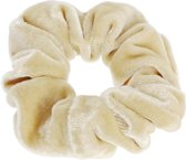 Lucardi Diversen  - Velvet scrunchie licht beige