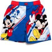 Mickey Mouse Jongens Boardshort - blauw;rood - Maat 116