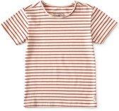 raw edge t-shirt jongens - brick stripe