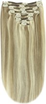 Remy Human Hair extensions Double Weft straight 16 - blond 9/613#
