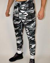 Fitness Broek Fleece | Camo Grijs (L) - Disciplined Apparel